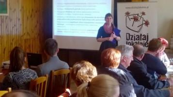 """Szkolenie w Oleśnie, w ramach konkursu grantowego """"Działaj Lokalnie IX"""", za nami."""