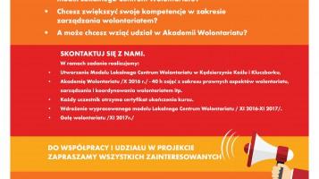 Tworzymy LOKALNE CENTRUM WOLONTARIATU w Kluczborku!! Czekamy na Twoje zgłoszenie!!