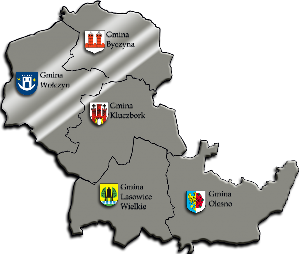 mapa- obszard LGD Dolina Stobrawy