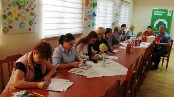 """Spotkania informacyjno-szkoleniowe w ramach projektu grantowego pn.""""Organizacja zajęć dla lokalnej społeczności"""" w Gminie Olesno i Lasowice Wielkie."""