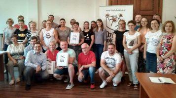 """Uroczyste szkolenie dla realizatorów """"Działaj Lokalnie 2018"""", w Stowarzyszeniu LGD """"Dolina Stobrawy""""."""