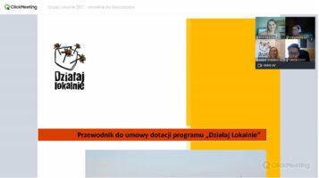 """Szkolenie dla realizatorów projektów """"Działaj lokalnie"""" oraz """"Działaj Lokalnie i ekologicznie"""""""